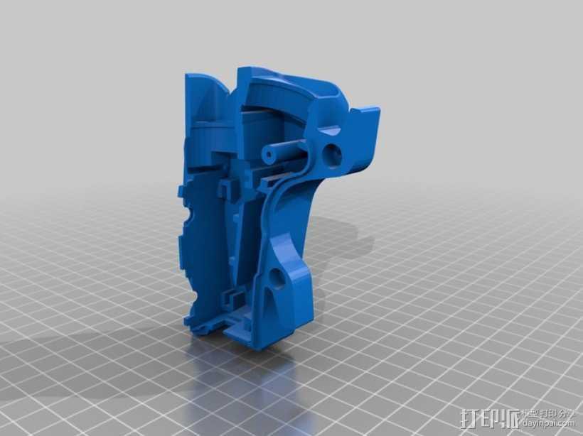自行车 LED太阳能车灯 3D打印模型渲染图