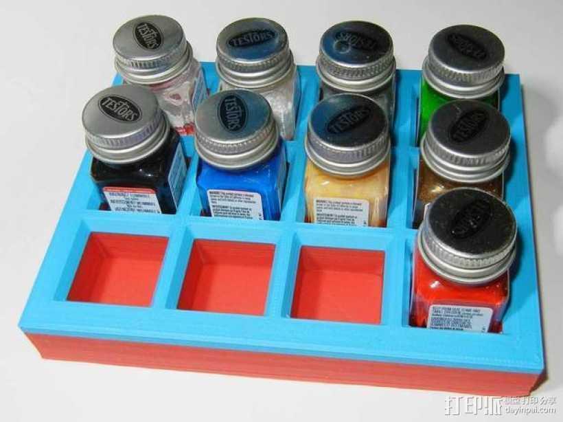 油漆瓶 底座 3D打印模型渲染图