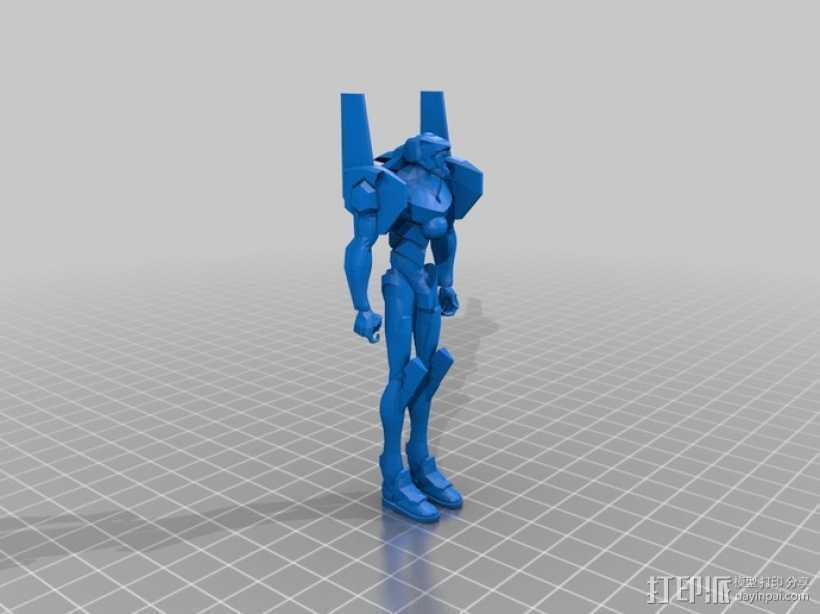 动漫《新世纪福音战士》机器人 3D打印模型渲染图