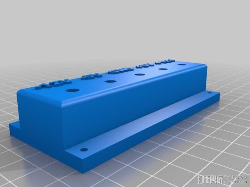 电源面板 3D打印模型渲染图