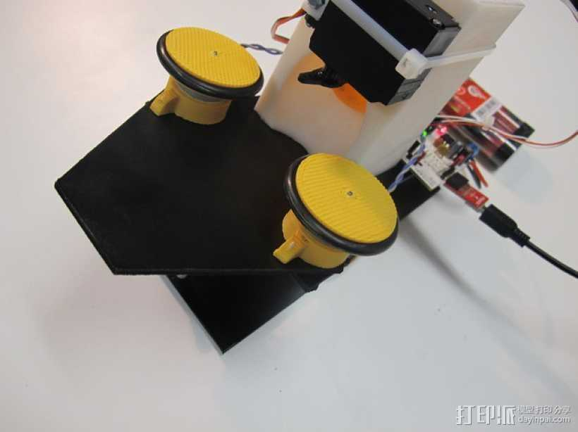 乒乓球发射器 3D打印模型渲染图