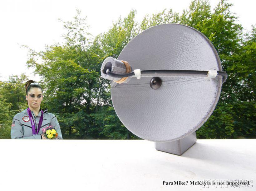 ParaMike抛物面传声器 3D打印模型渲染图