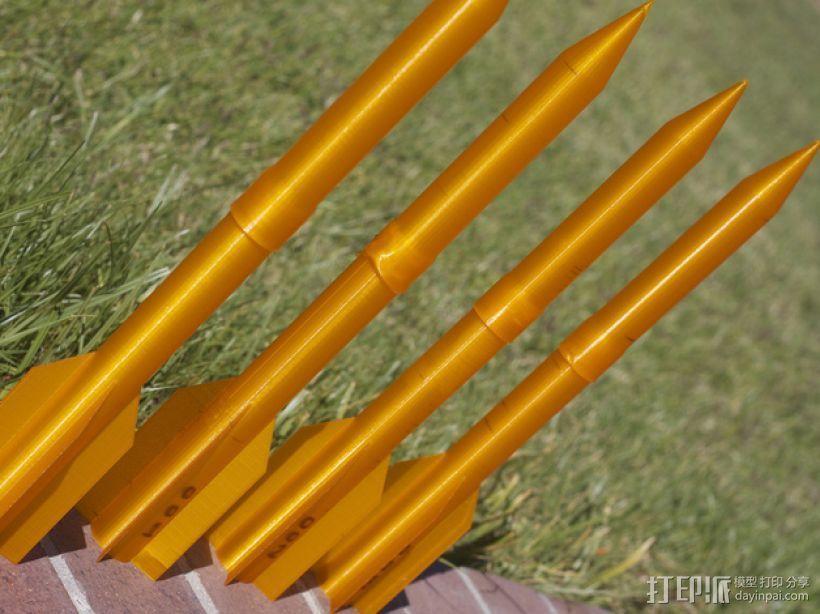 空气压缩火箭 3D打印模型渲染图