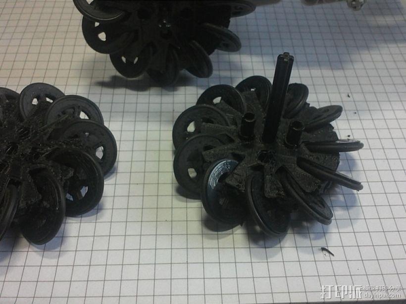 麦克纳姆轮 3D打印模型渲染图