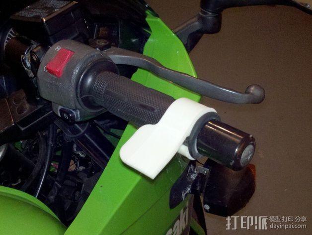 摩托车 腕托 3D打印模型渲染图