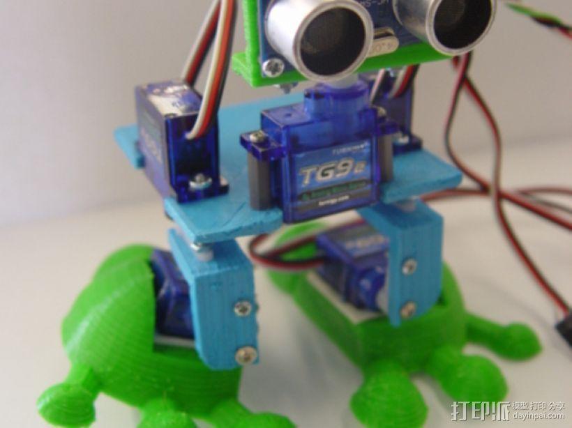 Arduped双足机器人 3D打印模型渲染图
