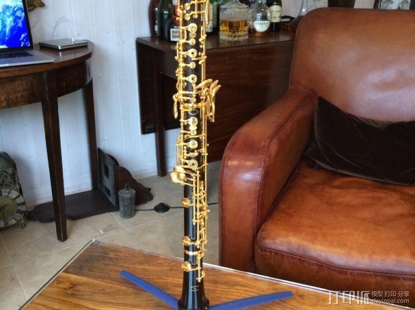 两头双簧管站架 3D打印模型渲染图