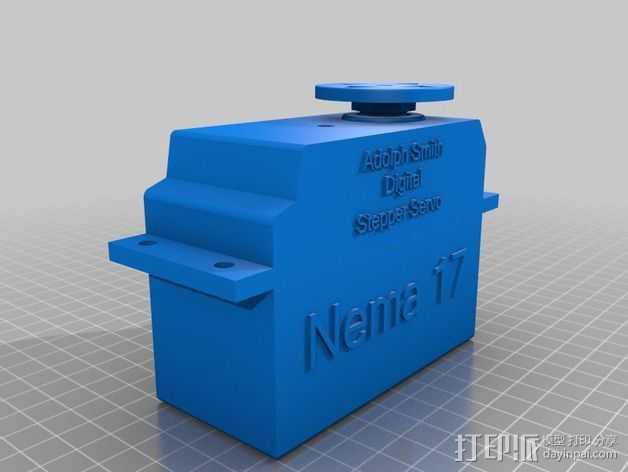 Nema 17步进电机伺服系统 3D打印模型渲染图