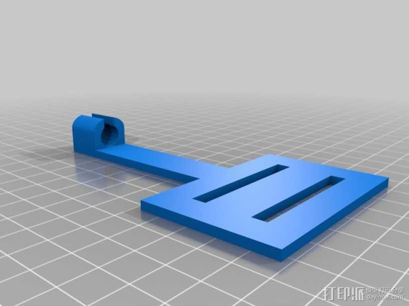 Shapeoko钢绳侧装底板 3D打印模型渲染图