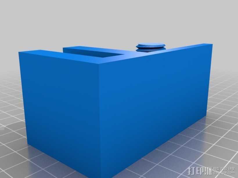 小号 弱音器支架 3D打印模型渲染图