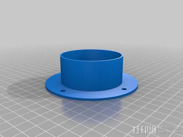 PVC管 3D打印模型渲染图