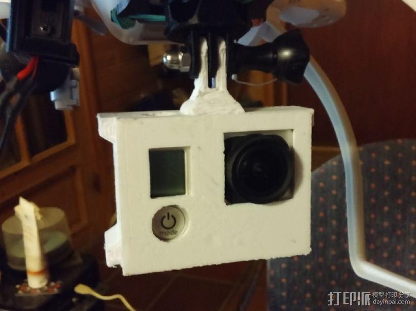GoPro相机外壳 3D打印模型渲染图