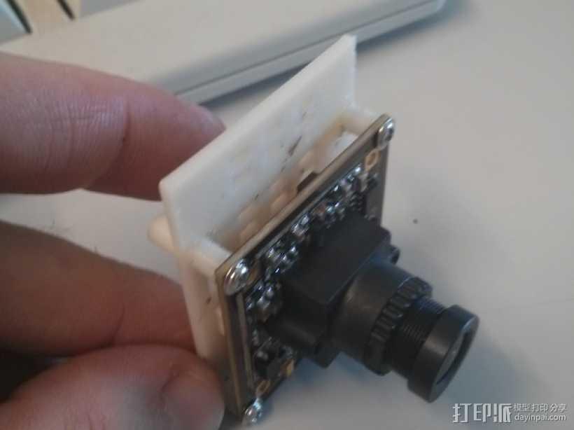 600TVL相机中心板  3D打印模型渲染图