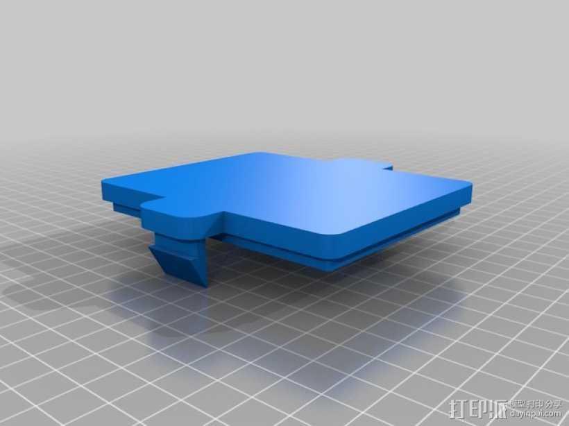铅酸电池 外壳 3D打印模型渲染图