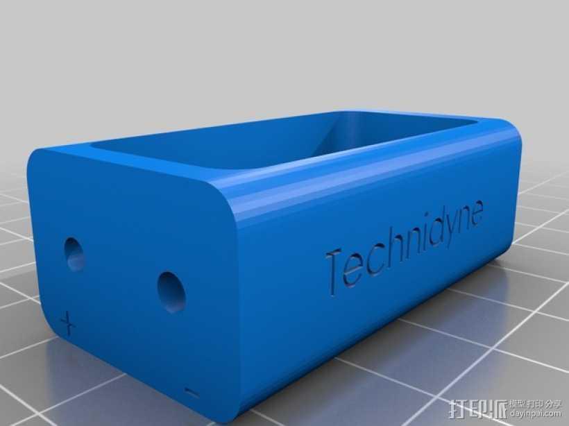 电池配适器 3D打印模型渲染图