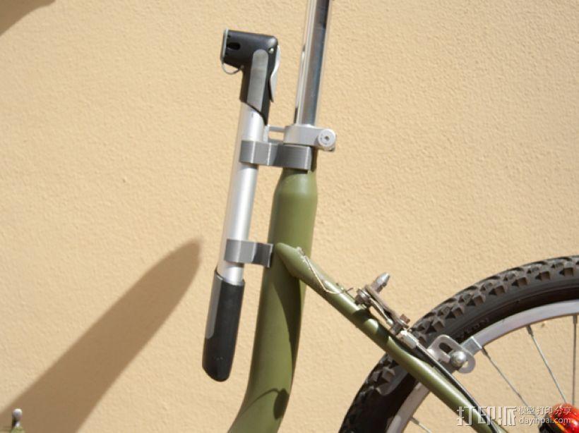 Graziella自行车 打气筒架 3D打印模型渲染图