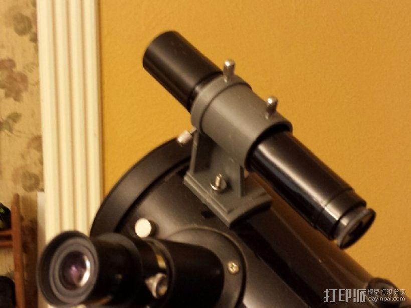 反射式望远镜支架 3D打印模型渲染图