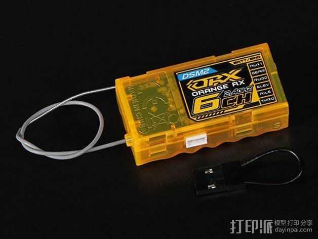 OrangeRX R620 6接收机 3D打印模型渲染图