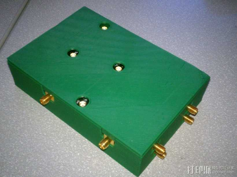 HF/VHF换流器子板外壳 3D打印模型渲染图