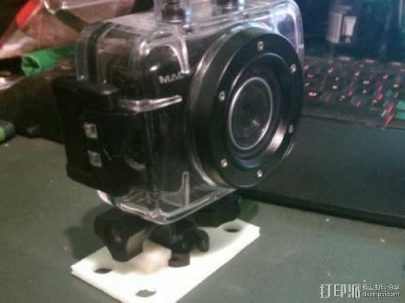 GoPro相机支架 3D打印模型渲染图