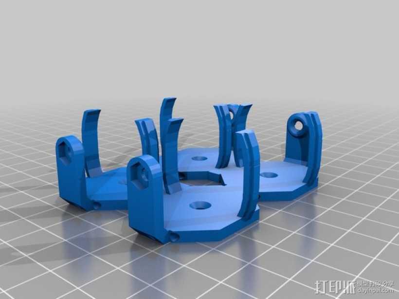 参数化电池夹 3D打印模型渲染图