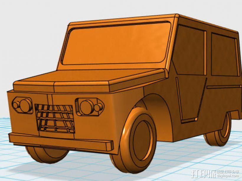雪铁龙吉普车 3D打印模型渲染图