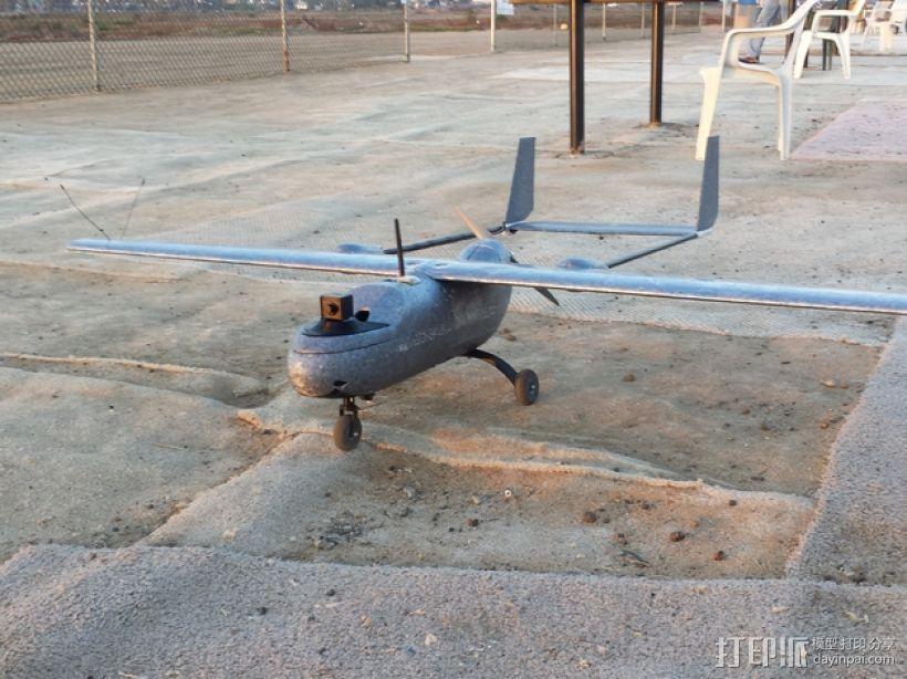 """""""空中猎手""""遥控飞机 起落架 3D打印模型渲染图"""