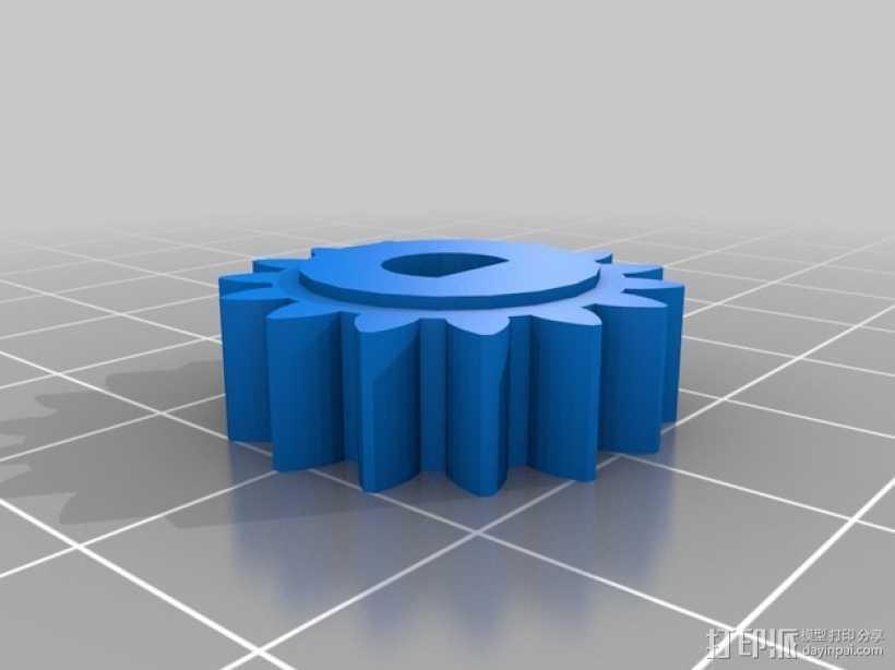 电位计 齿轮 3D打印模型渲染图