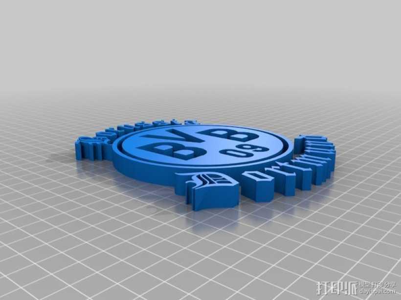 多特蒙德足球俱乐部 标志 3D打印模型渲染图