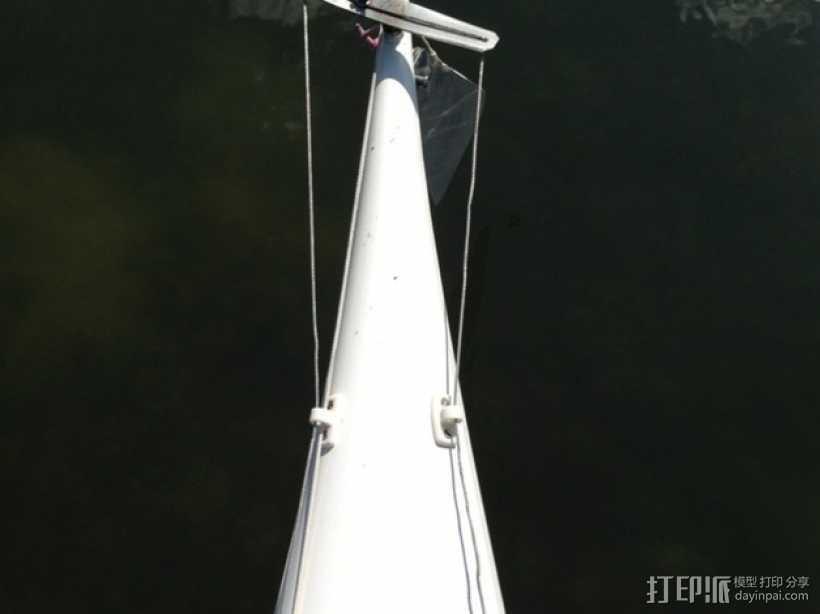 皮划艇 线带固定夹 3D打印模型渲染图