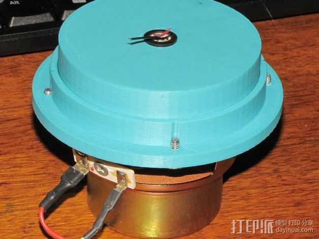 传声器炭精盒 固定器 3D打印模型渲染图