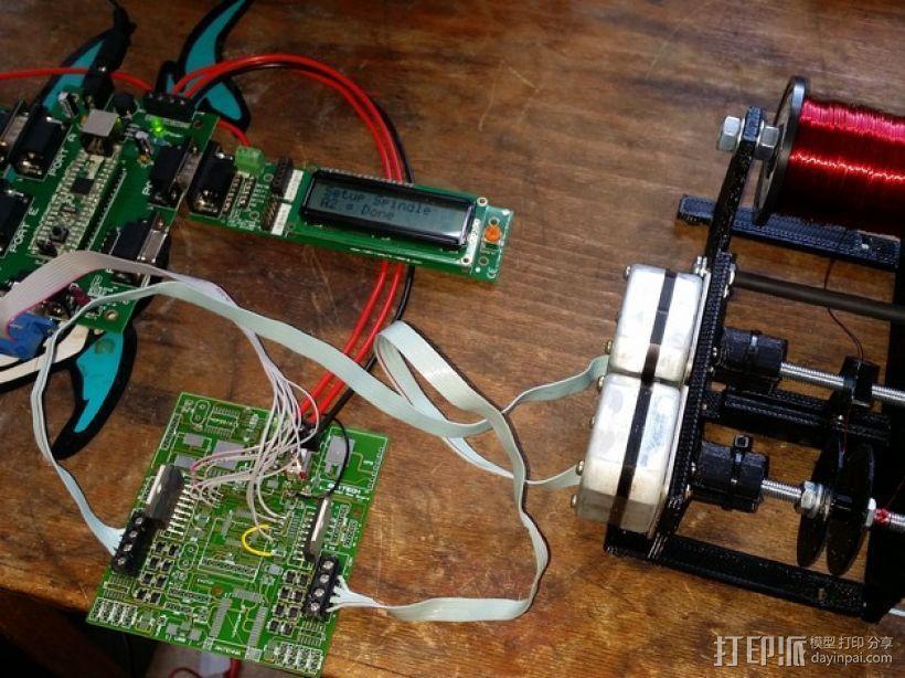 自动绕线机 3D打印模型渲染图