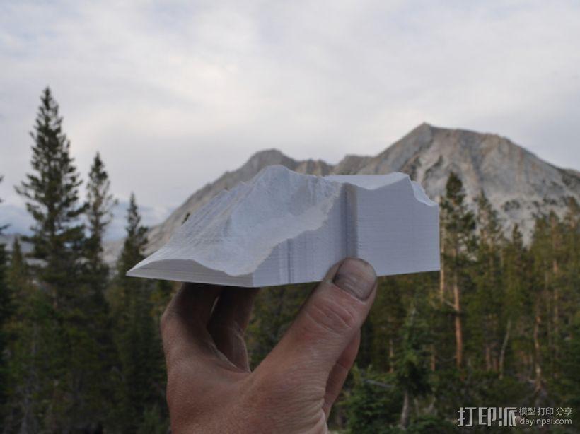 约塞米蒂国家公园 Conness山峰 3D打印模型渲染图