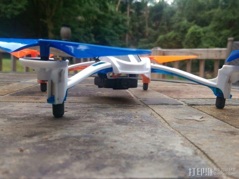 四轴飞行器 起落架 3D打印模型渲染图