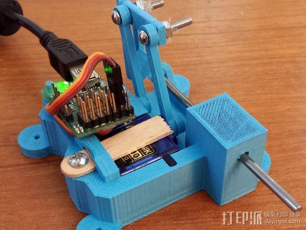 线性致动器  3D打印模型渲染图
