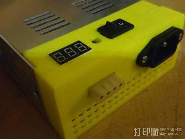 电源 外壳 3D打印模型渲染图