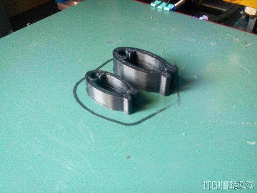 线缆夹 3D打印模型渲染图
