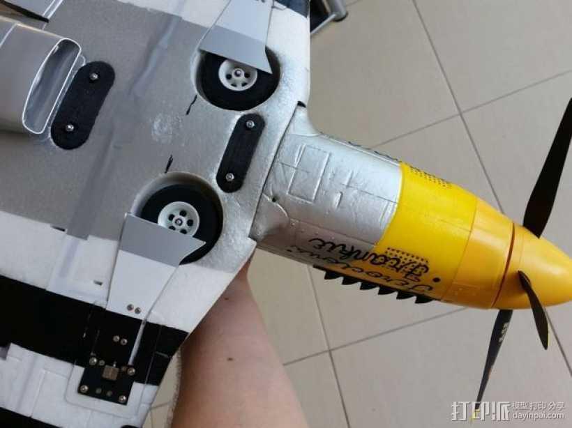 Durafly P-51飞机 机翼固定夹 3D打印模型渲染图