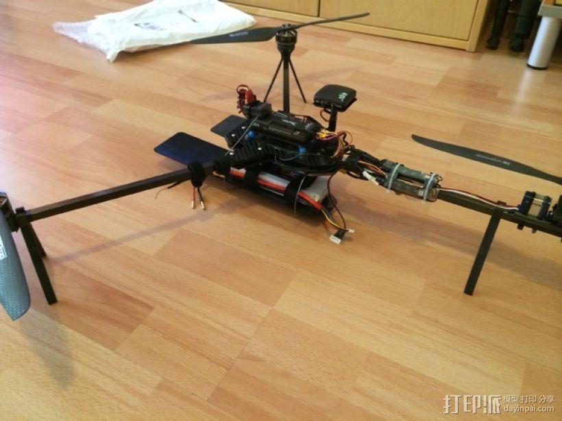 可折叠三轴飞行器 3D打印模型渲染图