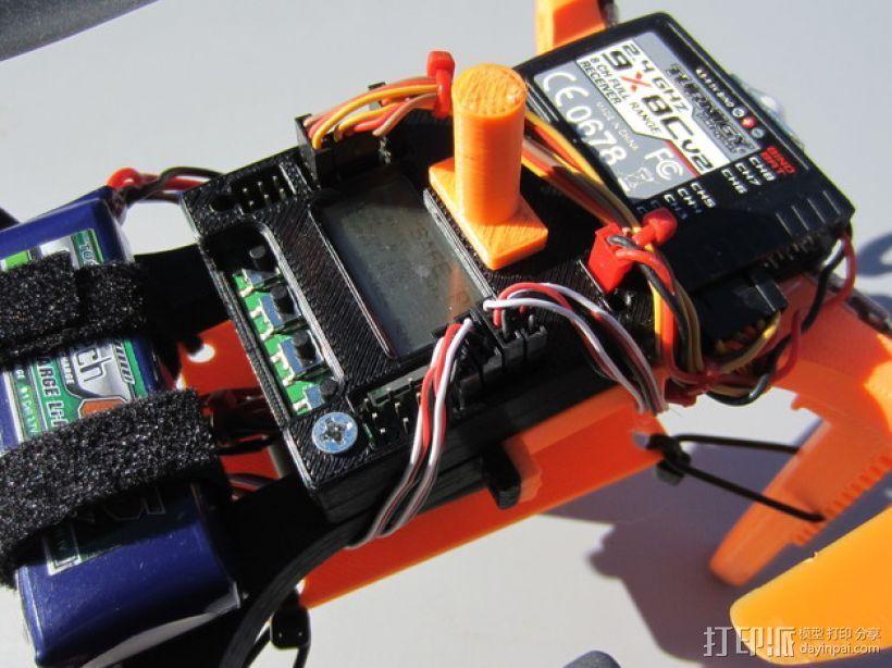 迷你多轴飞行器 可调节相机支架 3D打印模型渲染图