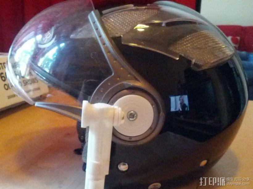 摩托车头盔 相机支架 3D打印模型渲染图