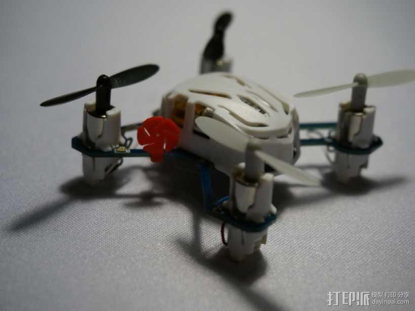 Estes Proto-x四轴飞行器 马达标签 3D打印模型渲染图
