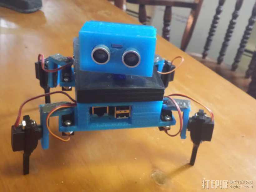 Gizmo四足机器人 3D打印模型渲染图