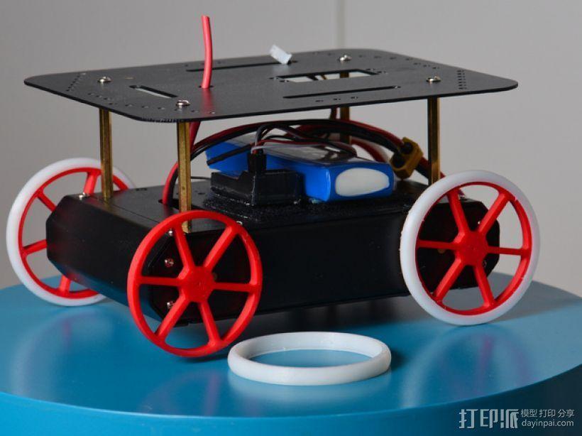 机器人 车轮和轮胎  3D打印模型渲染图