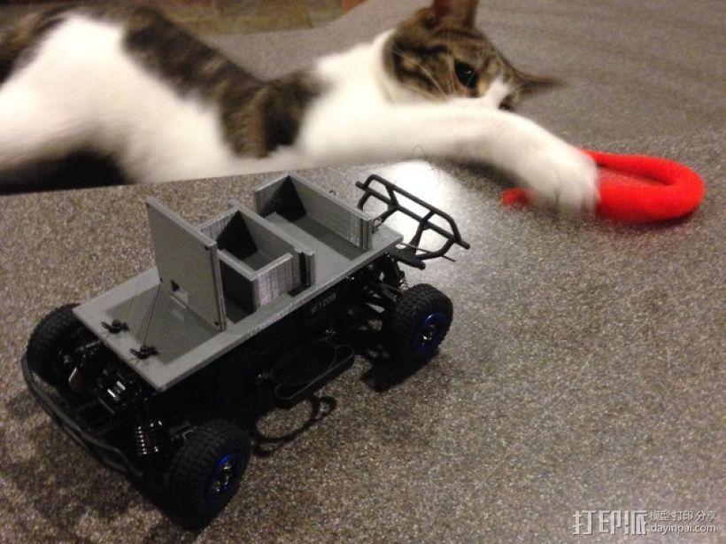 FPV遥控越野车 支架 3D打印模型渲染图