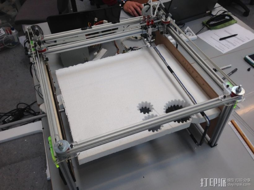 发泡胶切割机 3D打印模型渲染图
