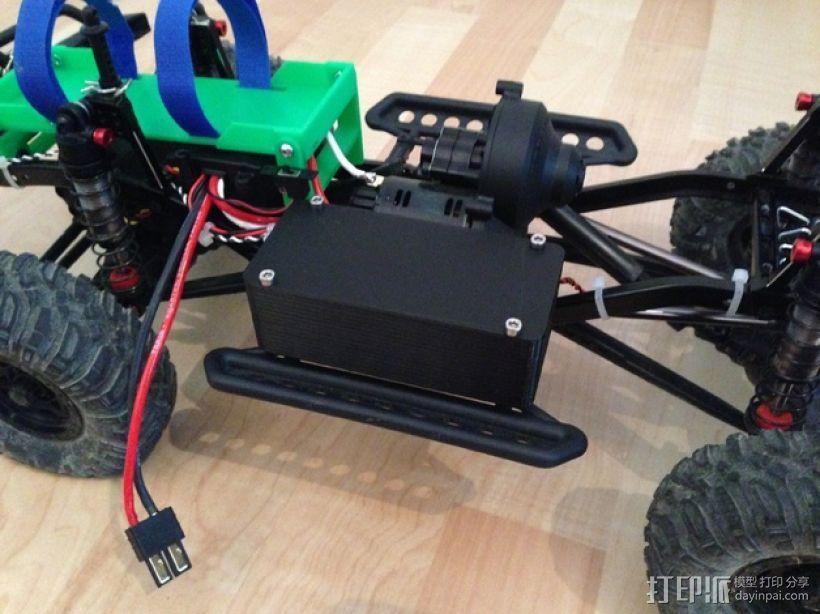 Axial SCX10遥控攀爬车 LED灯控制器 3D打印模型渲染图