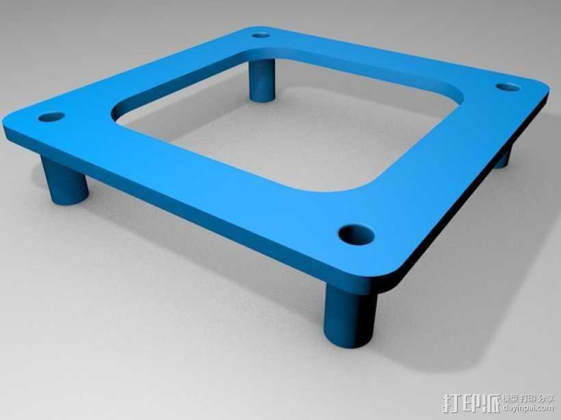 四轴飞行器 飞行控制器支架 3D打印模型渲染图
