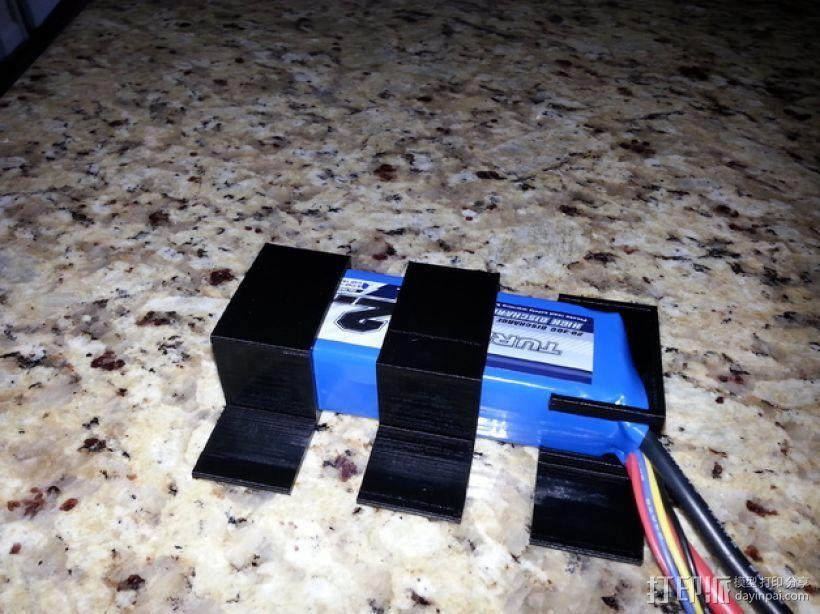 SK 450电池固定夹 3D打印模型渲染图