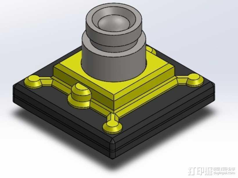 FPV相机外壳  3D打印模型渲染图